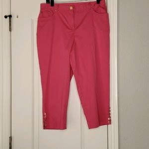 Ruby Rd Hot Pink Capris size 6